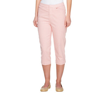 Liz Claiborne New York Regular Jackie Striped Capris - A252120