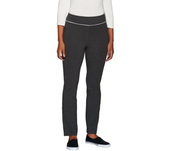 Denim & Co. Active Petite Duo-Stretch Yoga Pants - A257520