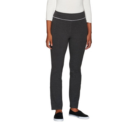 Denim & Co. Active Petite Duo-Stretch Yoga Pants