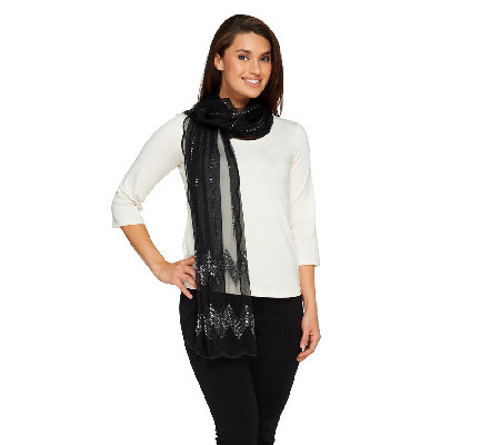 Joan Rivers Shimmering Nights Sequin Scarf