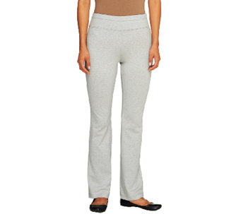 Denim & Co. Active Duo-Stretch Yoga Pants with Wide Waistband - A259220