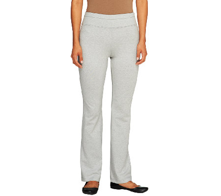 Denim & Co. Active Duo-Stretch Yoga Pants with Wide Waistband