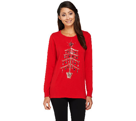 Quacker Factory Yuletiddings Pullover Sweater