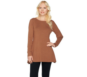 Linea by Louis Dell'Olio Whisper Knit Swing Sweater - A259620