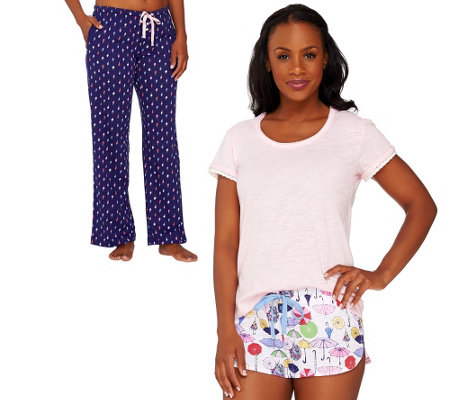 Jane & Bleecker Jersey Knit 3-Piece PJ Set