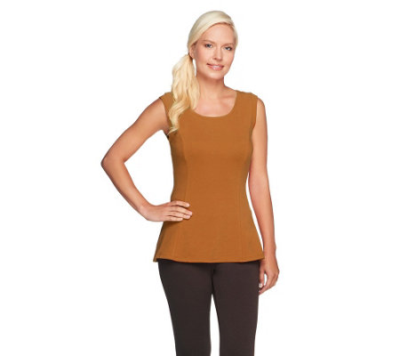 """As Is"" Kathleen Kirkwood Cotton Spandex Swing Cami"
