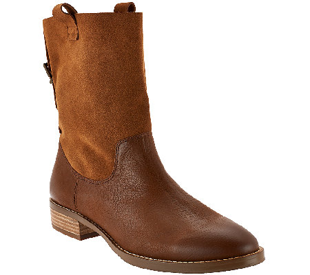 Sole Society Leather and Suede Ankle Boots - Jaclyn