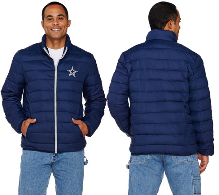 Nfl Dallas Packable Down Quilted Jacket Qvc Com