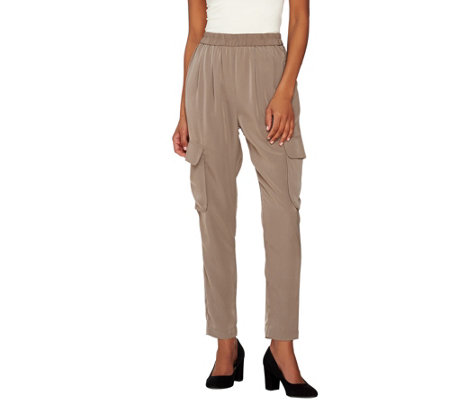 Lisa Rinna Collection Straight Leg Pull-On Cargo Pants