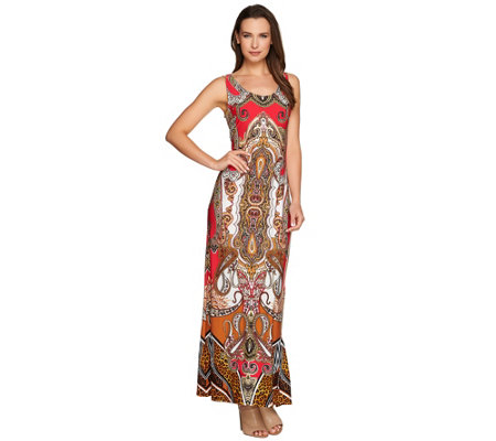 Attitudes by Renee Petite Printed Knit Maxi Dress