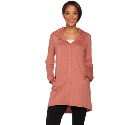 Linea Leisure by Louis Dell'Olio Snap Front Hooded Tunic
