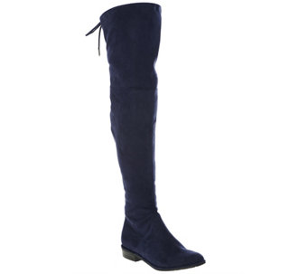 Marc Fisher Faux-Suede Over the Knee Boots - Humor - A279920