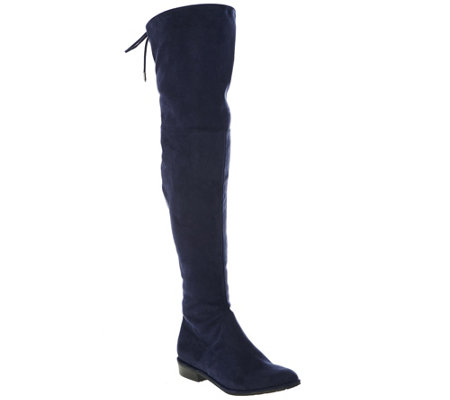 Marc Fisher Faux-Suede Over the Knee Boots - Humor