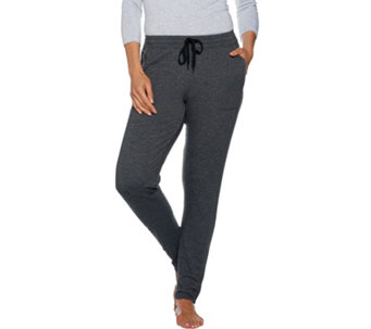 Cuddl Duds Comfortwear French Terry Slim Pants - A280220