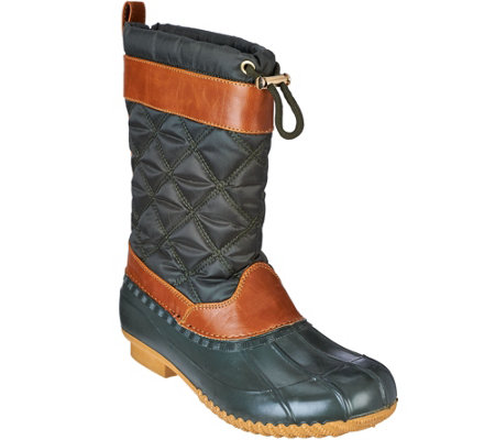 """As Is"" Isaac Mizrahi Live! Mid Shaft Water Resistant Boots"
