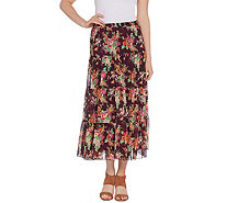 Linea by Louis Dell'Olio Crinkle Floral Print Boho Skirt - A287620