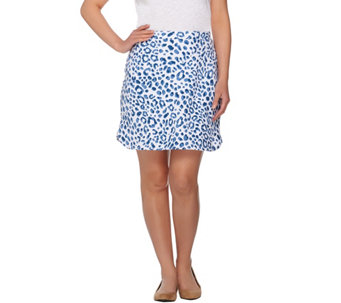 """As Is"" Susan Graver Weekend Printed French Terry Skort - A287820"