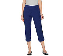 Isaac Mizrahi Live! Petite 24/7 Stretch Pull-On Crop Pants - A289620