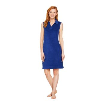 Denim & Co. Beach Knit Terry Y Neck Sleeveless Cover Up Dress