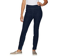 LOGO by Lori Goldstein Denim Pull-On Skinny Ankle Pants - A290520