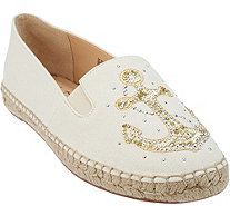 Quacker Factory Embroidered & Sequin Motif Slip-on Espadrilles - A290920