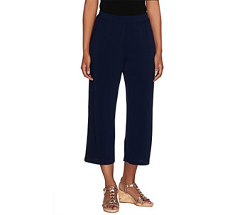 """As Is"" George Simonton Pull- On Crystal Knit Crop Pants with Pockets - A291020"