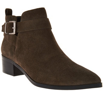 """As Is"" Marc Fisher Suede Pointed Toe Ankle Boots - Ireene - A293220"