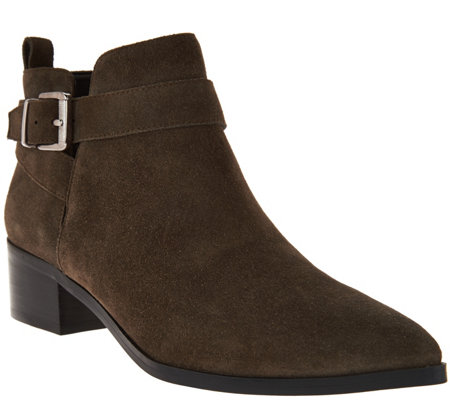 """As Is"" Marc Fisher Suede Pointed Toe Ankle Boots - Ireene"