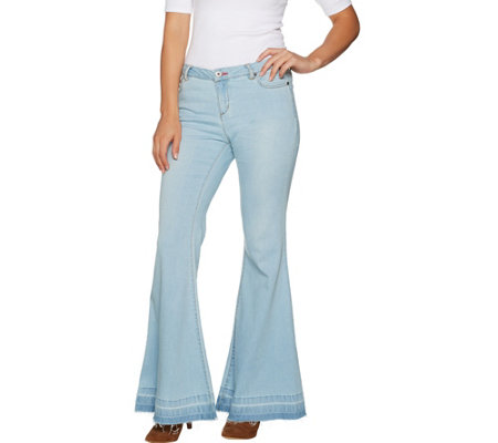 Peace Love World Petite Flare Denim Pants