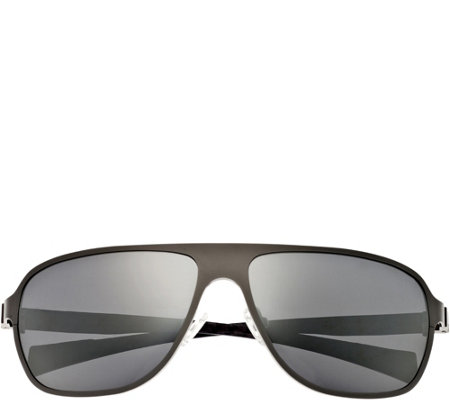Breed Atmosphere Titanium & Carbon Fiber Silvertone Sunglasse