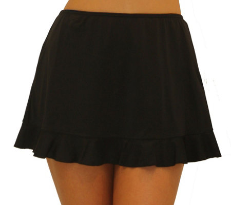 Fit 4 Ur Hips Solid Skirt with Flounce - Missy