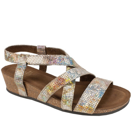White Mountain Suede Leather Sandals - Carver