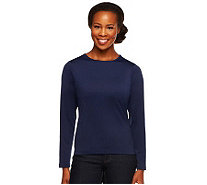 Susan Graver Essentials Butterknit Long Sleeve T-Shirt - A2221