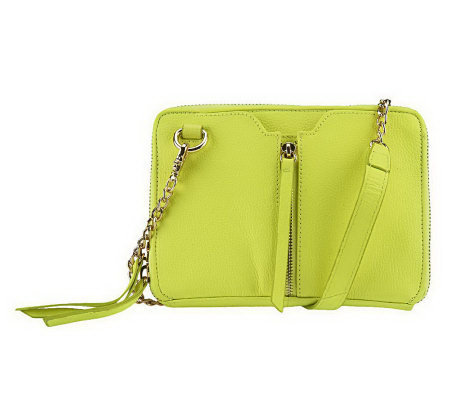 """As Is"" Kelsi Dagger Chelsea Pebble Grain Leather Crossbody Bag"