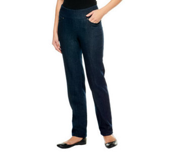 "Denim & Co. Tall ""How Smooth"" Straight Leg Jeans - A239621"