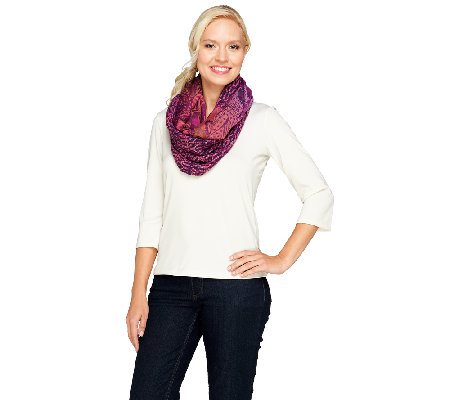 Collection 18 Tranquil Scales Woven Infinity Scarf