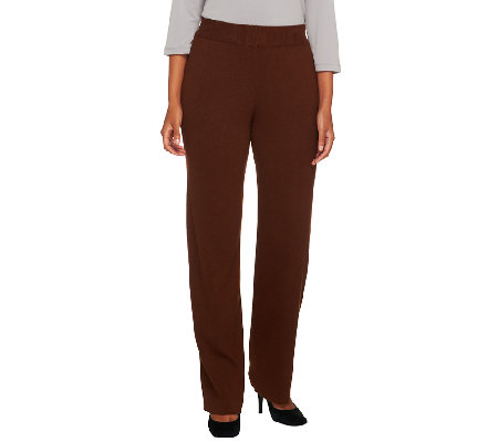 Joan Rivers Petite Wardrobe Builders Knit Pull On Pants