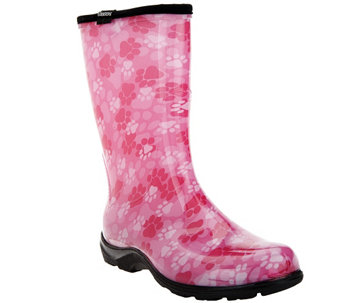 Sloggers Waterproof Paw Print Garden Boot w/ Comfort Insoles - A262621
