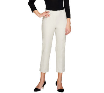 Susan Graver Coastal Stretch Pull-On Crop Pants with Comfort Waist - A263821