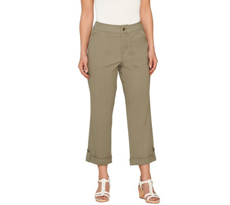 Liz Claiborne New York Jackie Cuffed Crop Pants