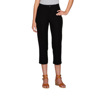 Isaac Mizrahi Live! Petite 24/7 Stretch 5 Pocket Crop Pants - A265921