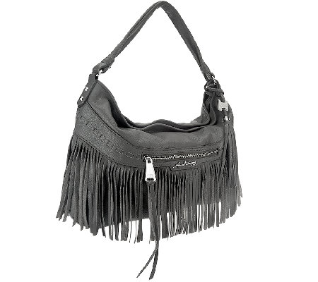 Aimee Kestenberg Pebble Leather Fringe Hobo - Lulu
