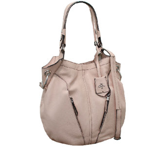 """As Is"" orYANY Italian Grain Leather Hobo - Victoria - A270121"
