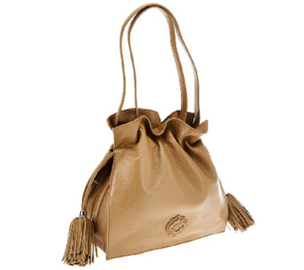 """As Is"" orYANY Pebble Leather Drawstring Crossbody Bag - Jamie - A275921"