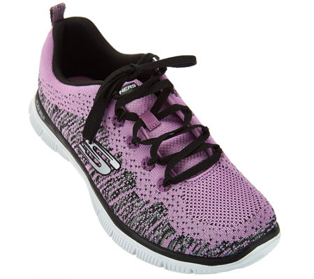 Skechers Flat Knit with Memory Foam Sneakers - Jump