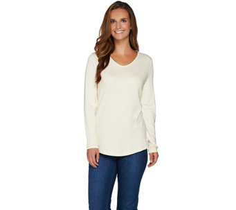 Isaac Mizrahi Live! Essentials Rounded V-neck Knit Tunic - A283721
