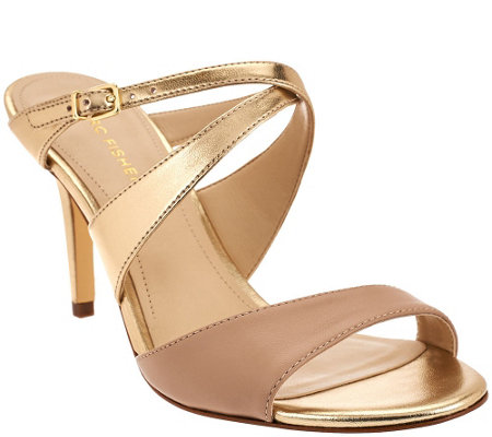 """As Is"" Marc Fisher Multi-strap Mule Sandals - Joy"
