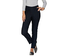 "Denim & Co. ""How Smooth"" Regular Denim Ankle Pant w/ Pocket Detail - A285221"