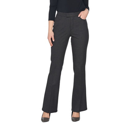 H by Halston Petite Bi-Stretch Full Length Flare Pants