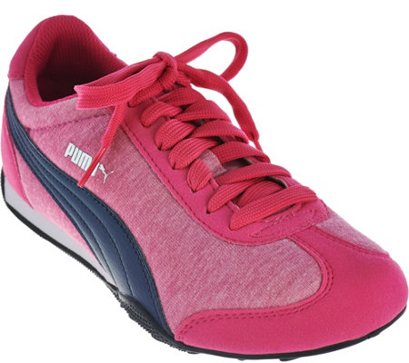 PUMA Jersey Knit Lace-Up Sneakers - 76 Runner Fun